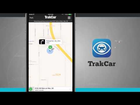 TrakCar - Find Where You Parked Your Car iPhone App Demo