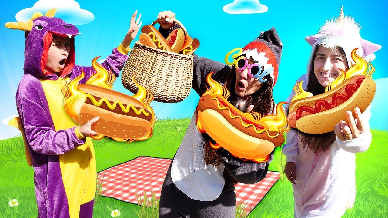 ¡El puesto de perritos calientes del dragón! Bromas y diversión infantil en español