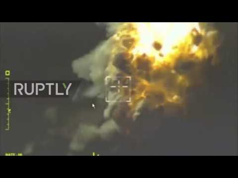 Syria: Russian MoD releases footage of strikes on militant targets in Idlib