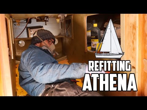 Sail Life - Fixing holes and priming the engine compartment