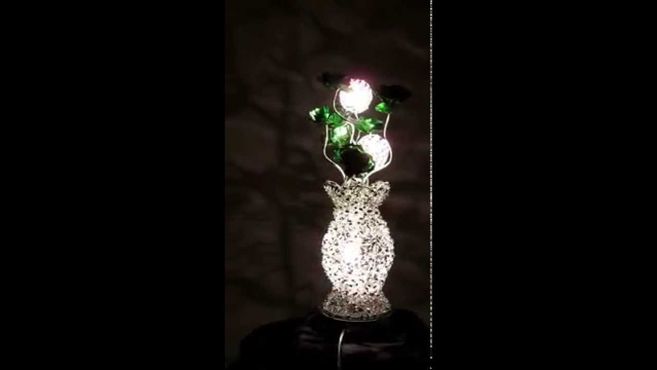 Woven wire table lamp silver and green flowers turned on www woven wire table lamp silver and green flowers turned on wirelampsdirect keyboard keysfo Image collections