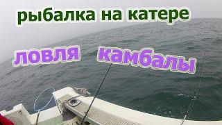 Мой первый выход в море на катере ловля камбалы 02 06 21