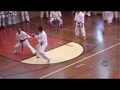 2012 Mens Black Belt Kumite C05: Riedel vs Parkhurst