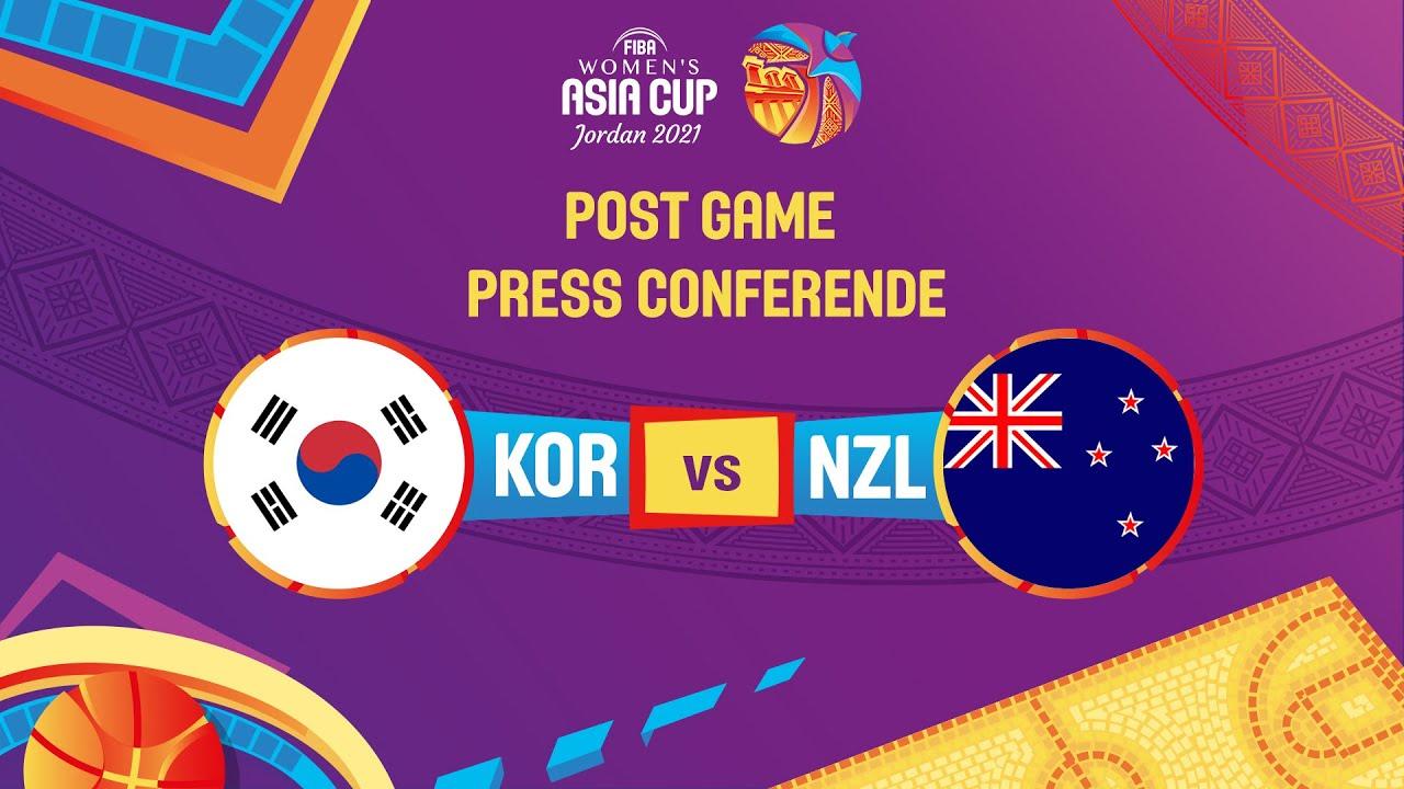 LIVE - Korea v New Zealand - Press Conference   FIBA Women's Asia Cup 2021 - Division A