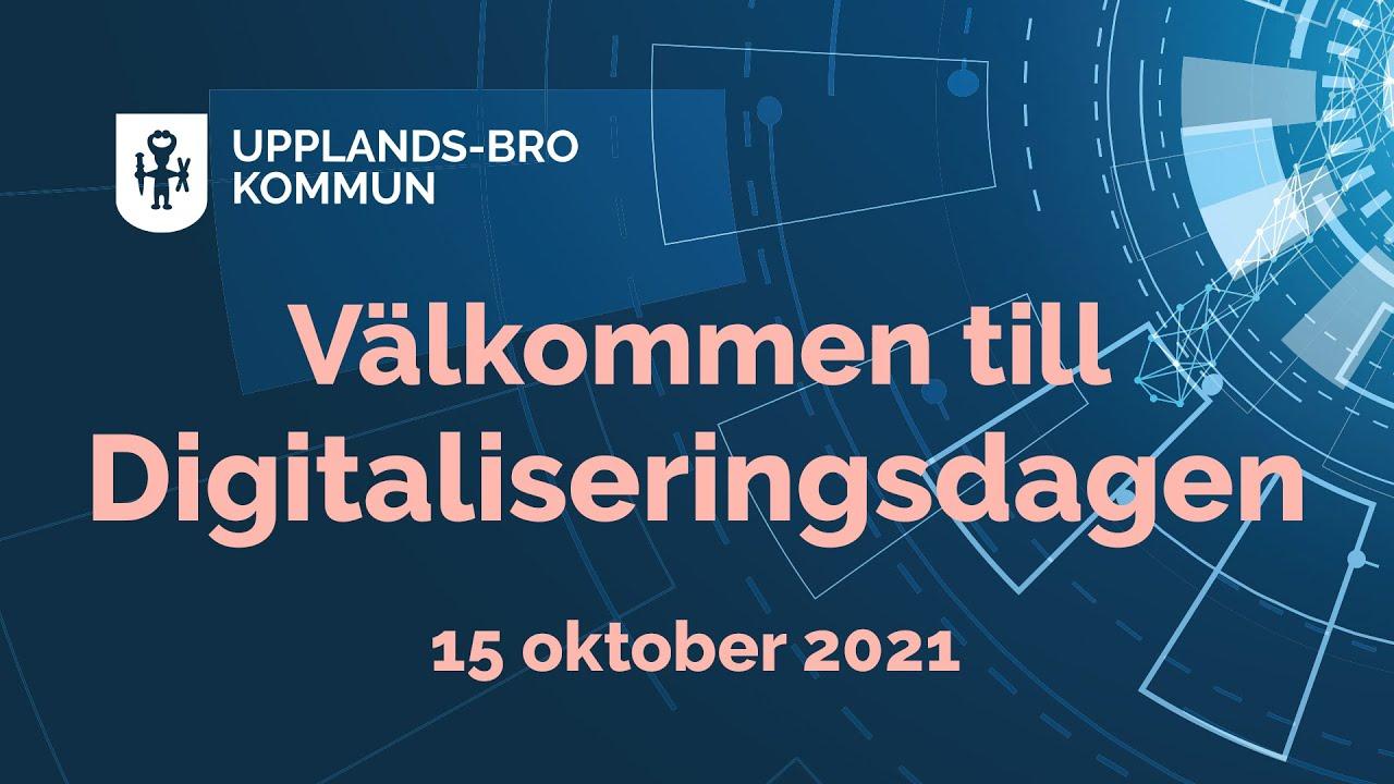 Digitaliseringsdagen 15 oktober 2021