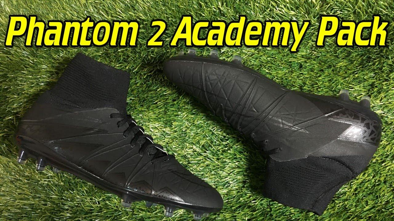 another chance b31e8 3ead7 Nike Hypervenom Phantom 2 Academy Pack Blackout Review + On Feet