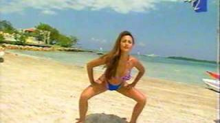 Leeann Tweeden Doing Aerobics in Slow Motion