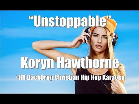 "Koryn Hawthorne ""Unstoppable"" BackDrop Christian Karaoke"