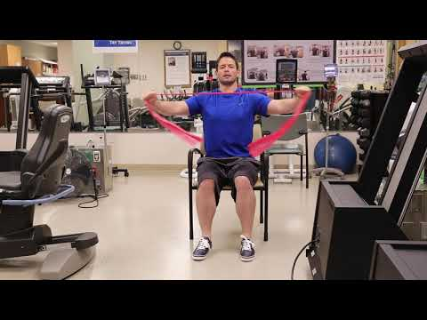 Upper Body Seated Resistance Band Exercises