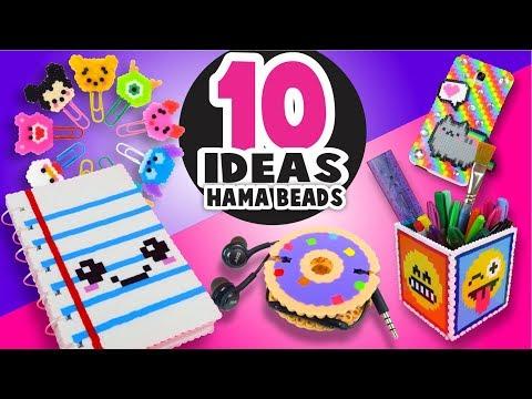 10 IDEAS para la ESCUELA con HAMA / PERLER BEADS (Parte 2)  ★ Así o más fácil ★