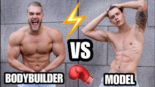 MODEL VS BODYBUILDER! Who gets the Ladies /Boys?! 😜 (Social Experiment) ft. Mischa Janiec