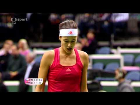 Petra Kvitová vs Ana Ivanovic Fed Cup 2012, Česko - Srbsko