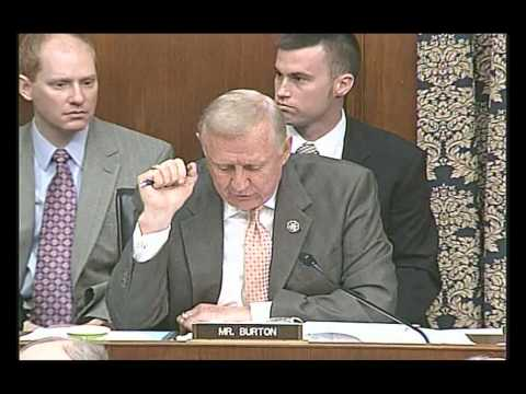 Rep. Dan Burton Questions Treasury Sec. Geithner on His Role in AIG Bailout Coverup
