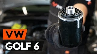 Skifte Oljefilter VW GOLF: verkstedhåndbok