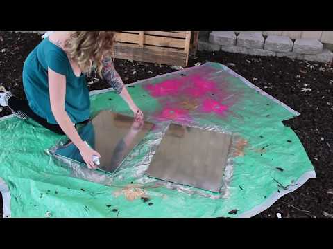TURN GLASS INTO MIRRORS! {rustoleum mirror effects spray paint}