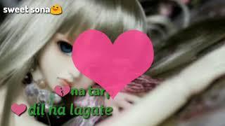 Tum jo na aate (femel vrsion)|| 💔hard tuching sad song😢|| whatsapp video status||sweet sona😆