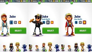 Subway Surfers Jake VS Jake Dark Outfit VS Jake Star Outfit Android Gameplay