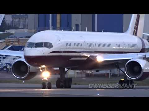Private Boeing 757 Business Jet Leaves Steathly Out of Paine Field - KPAE