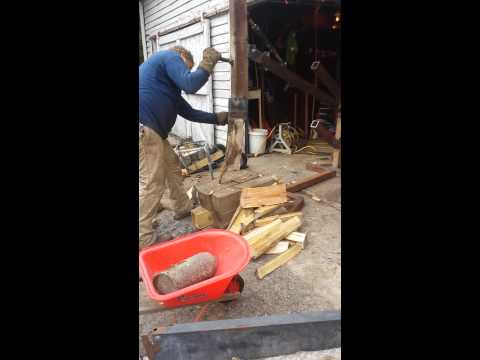 Manual log splitter (homemade)