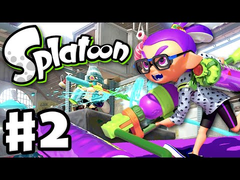 Splatoon - Gameplay Walkthrough Part 2 - Splat Roller! (Nintendo Wii U)