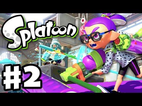 Splatoon - Gameplay Walkthrough Part 2 - Splat Roller! (Nintendo Wii U)