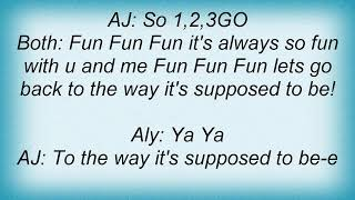 Watch Aly  Aj Having Fun video