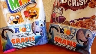 2014 RIO 2 Movie Cereal Promo Pack Surprise Toys Unpacking