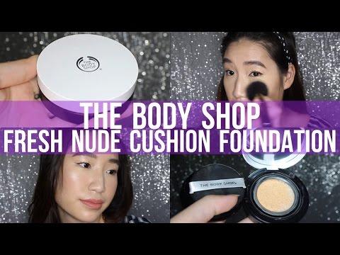 New THE BODY SHOP Fresh Nude Cushion Foundation Review + Demo   Sensitive Skin    TrishhYoungg