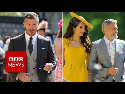 Royal wedding : Royalty of the celebrity world arrive - BBC