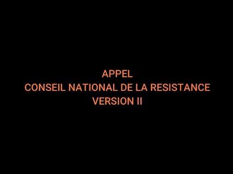 APPEL ! Conseil National de la Résistance. Version II