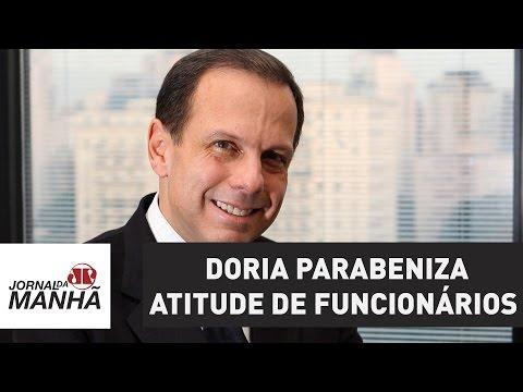 Doria parabeniza atitude de funcionários da prefeitura regional de Pinheiros | Jornal da Manhã