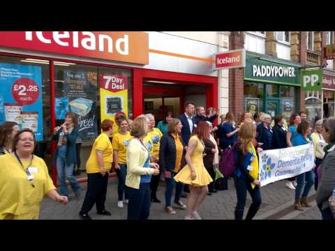 Evesham Dementia Flash Mob