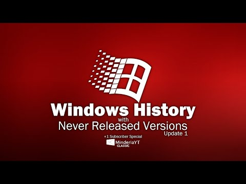 Windows History with Never Released Versions (Update 1)