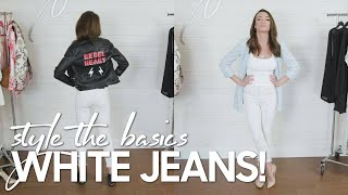 White Jeans Style Ideas for Spring!