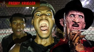 HUNTING FOR FREDDY KRUGER *WE FOUND HIM!!!!!!* HE CHASED US WITH HIS CLAWS!!!!