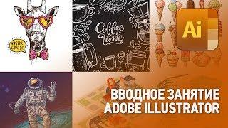 Вводное занятие в Adobe Illustrator. Иллюстратор с нуля (Урок 1)