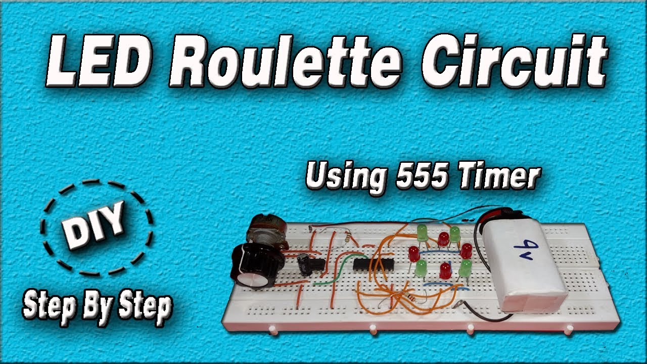 LED Roulette Circuit | DIY | Using 555 Timer IC | Step By Step - YouTube