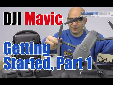 DJI Mavic Drone Getting Started. Part 1, Charging, Activating, Calibration