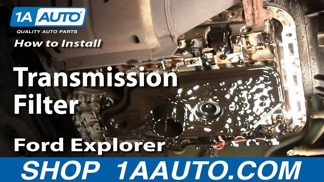 How To Install Replace Change Transmission Filter Ford Explorer 9501 1AAuto  YouTube