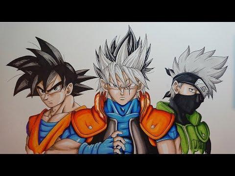 Drawing GOSHI | Kakashi - Goku Fusion. Original Character ...