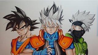 Drawing GOSHI | Kakashi - Goku Fusion. Original Character