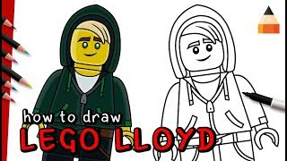 How To Draw Lloyd | Ninja Lloyd | The LEGO Ninjago Movie