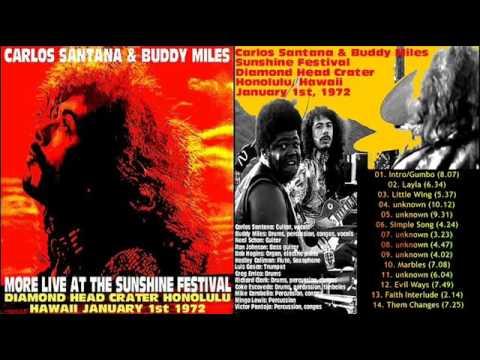 Carlos Santana & Buddy Miles 1972 Sunshine Festival, Waikiki