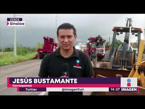 Cómo está Sinaloa tras huracán Willa; hay un río desbordándose   Noticias con Yuriria