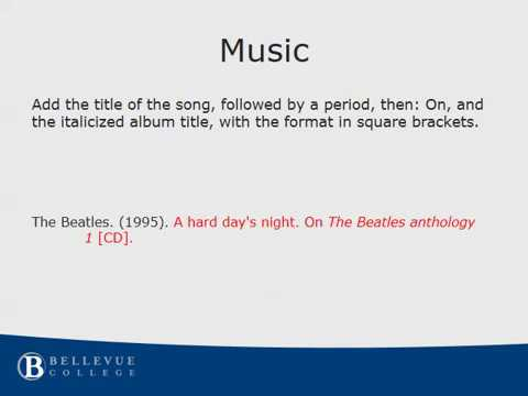 Citing Music - YouTube