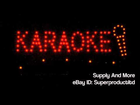 Karaoke bar LED pub Sign KTV Open store Display night Club