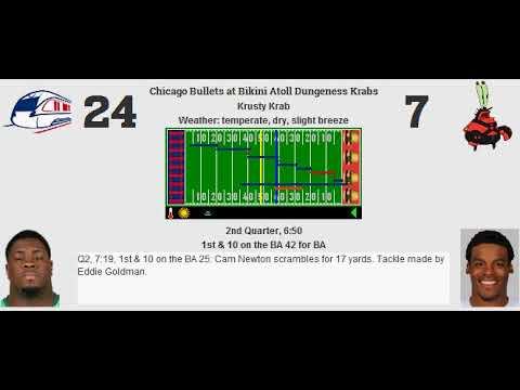 Week 10: Chicago Bullets (7-2) @ Bikini Atoll Dungeness Krabs (3-6)
