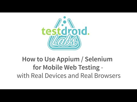 Using Selenium WebDriver to Run Mobile Web Tests - Bitbar