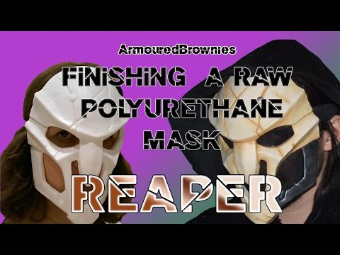 Finishing a Raw Polyurethane Mask for Cosplay and Costuming! Overwatch Reaper!