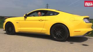 Олег Растегаев разгоняет Ford Mustang GT